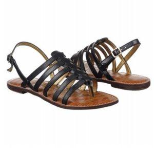 Sam Edelman Hamilton Black Gladiator Sandals